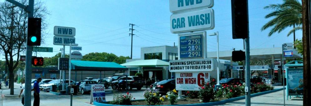 HWB Car Wash in Burbank, CA banner ad