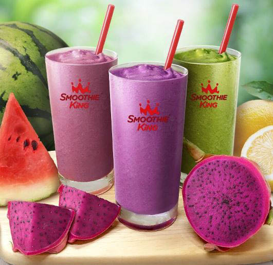 Trio of Hydration Smoothies at Smoothie King