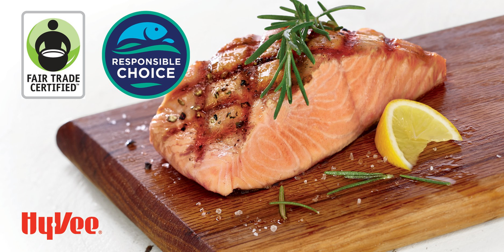 Fresh salmon from sustainable sources