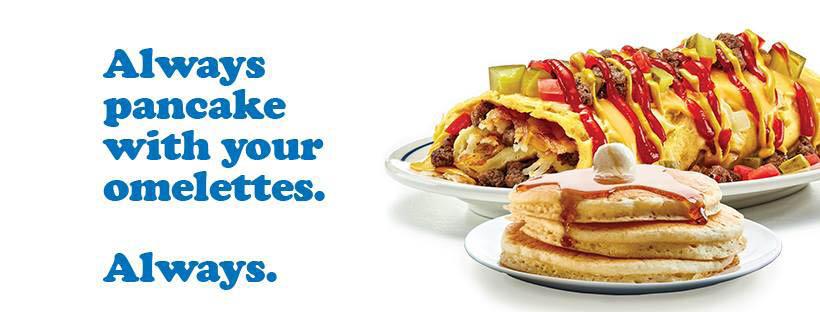 IHOP; breakfast; eggs; pancakes; Cedar Rapids, IA