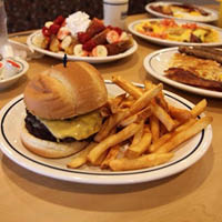 Sizzling burgers with fries from IHOP Wyomissing, PA