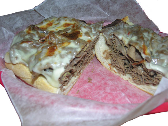 Open Face Roast Beef Sandwich With Melted Cheese