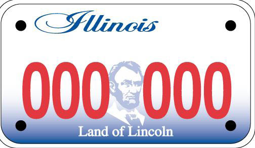 Illinois license plate registration and stickers available.