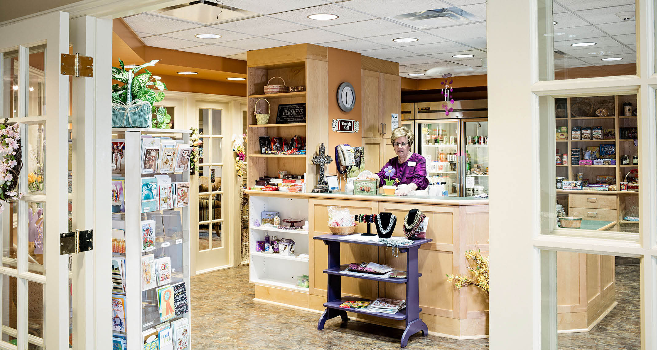 Gift shop at assisted living community
