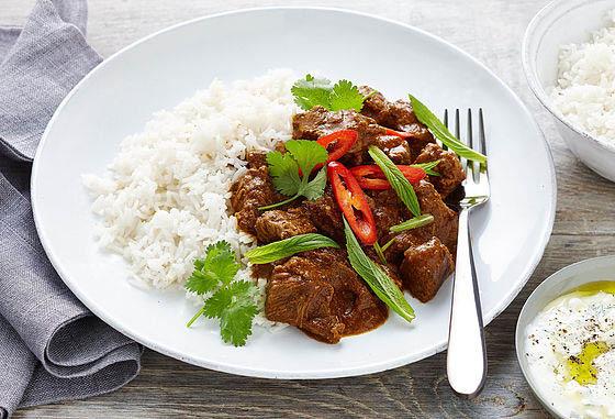 curry entrees; chicken tikki masala and rice; Encino Indian Restaurants