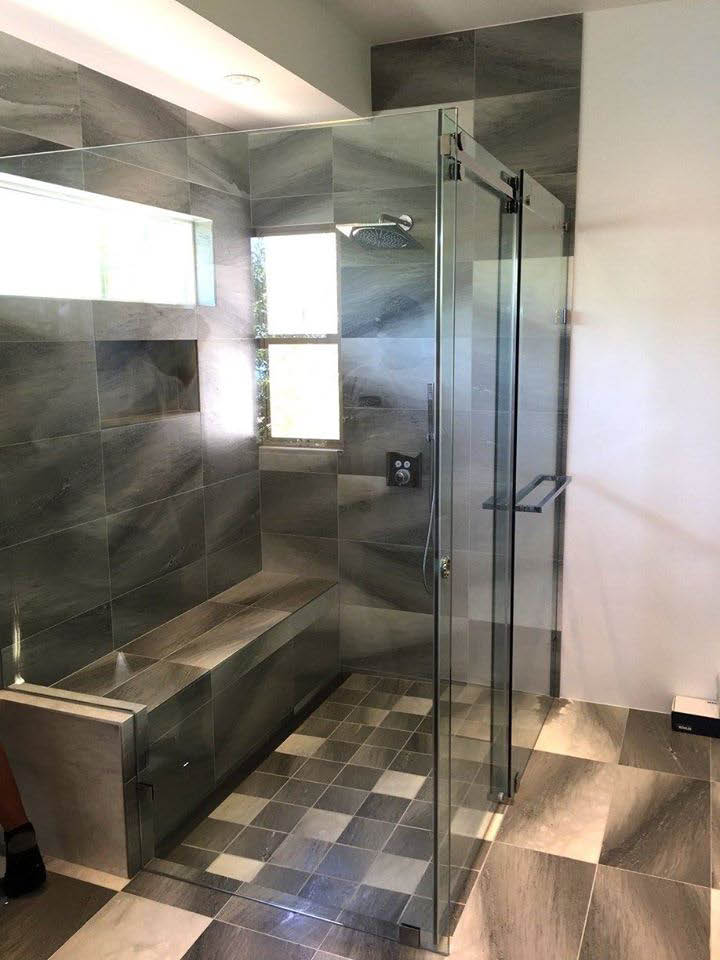recent shower remodel completed by Insolid of Waipahu, HI