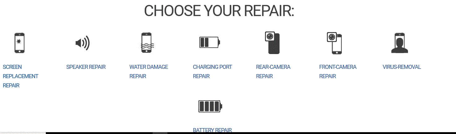 Repair services at I Repair & Accessories in Flint, MI