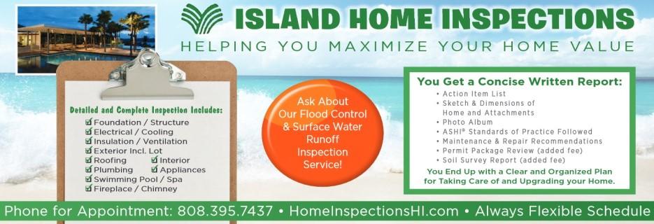 Island Home Inspections banner Honolulu, HI