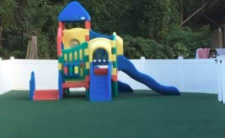swing, slide, pool, summer camp, fun