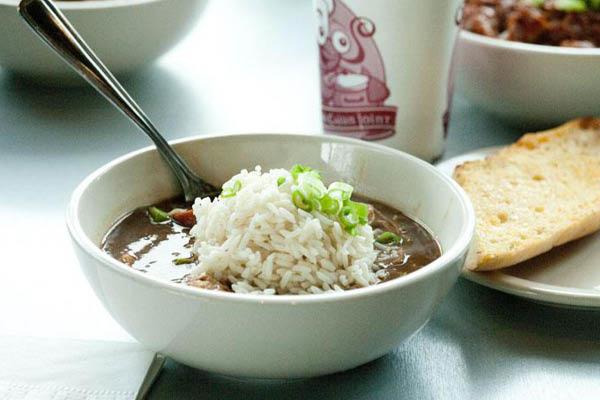 J. Gumbo's Cajun style stew and soup.