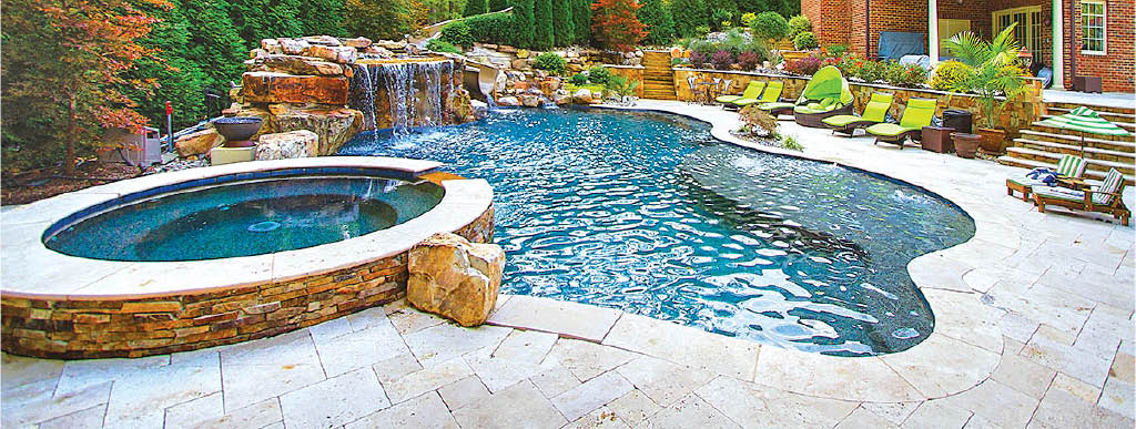 In-ground swimming pool & spa by Blue Haven - Flowood MS