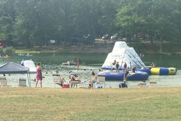 Jackson Lake Campground water park