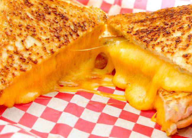 The cheesiest Grilled Cheese sandwich served at Jak's Place.