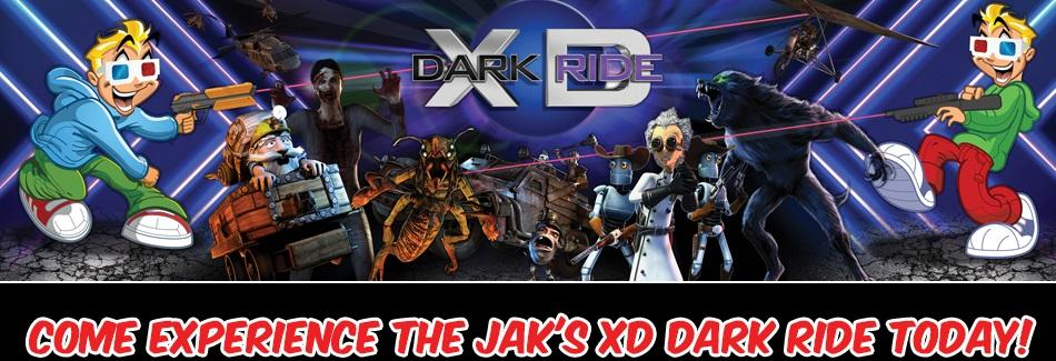 Ride the NEW XD Dark Ride today at JAK