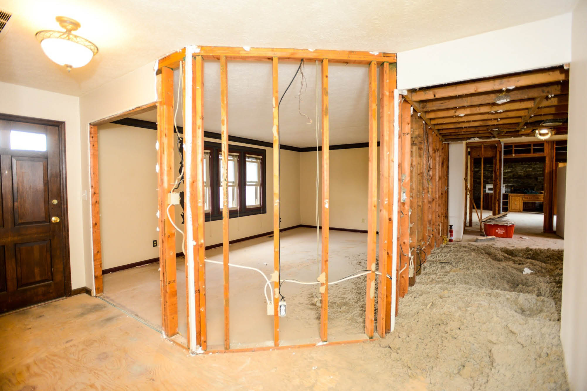 Framing work to add a new add a room to your home