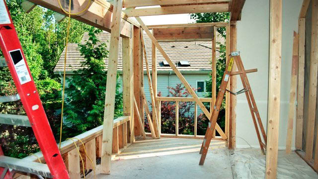 Framing for a room or porch addition