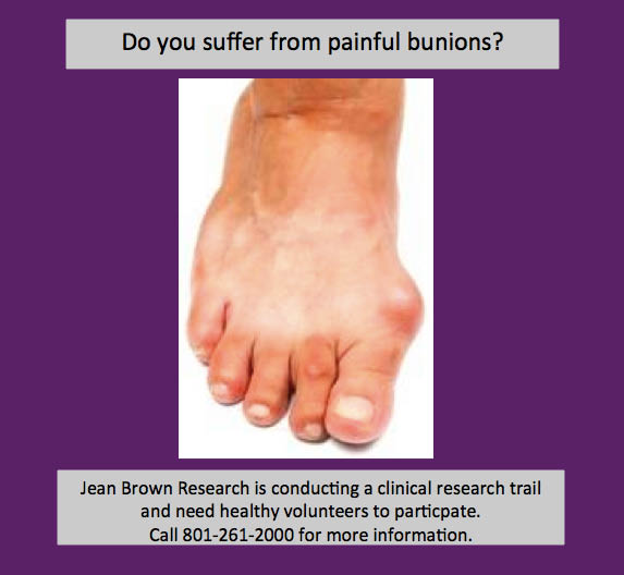 Jean Brown Research coupons, Wisdom teeth removal coupons, Bunion Removal coupons.
