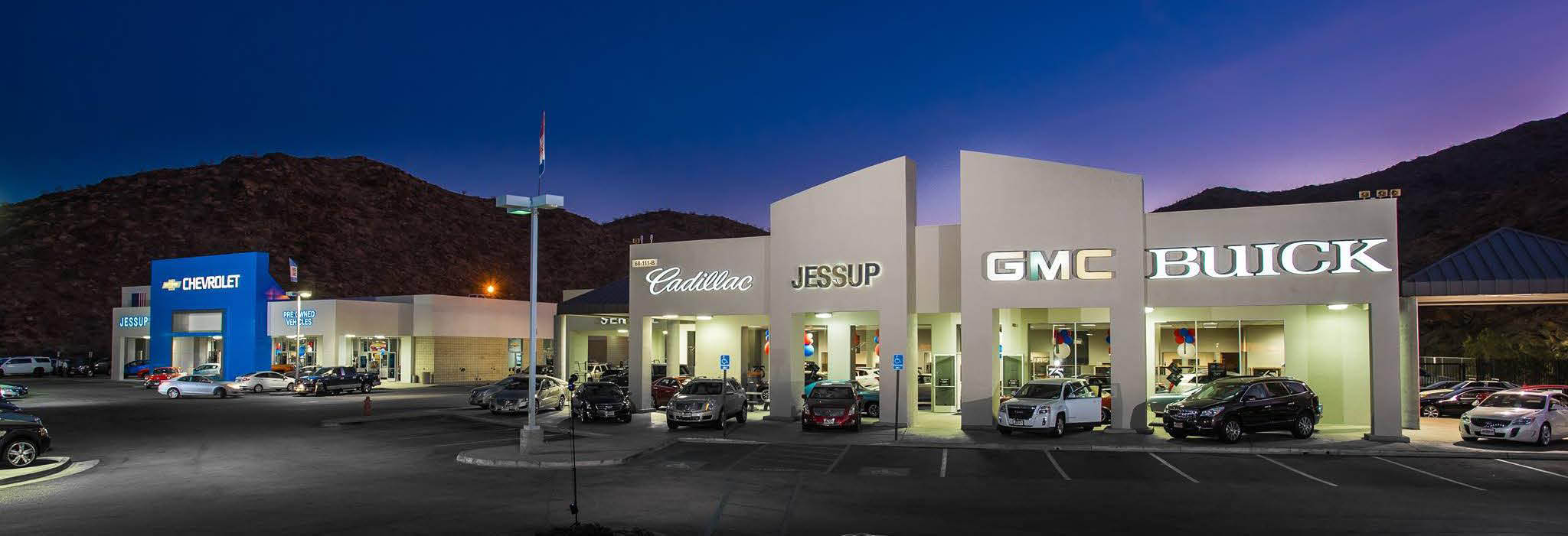 Jessup Auto Plaza Cadillac, Buick, GMC & Chevrolet Cathedral City banner