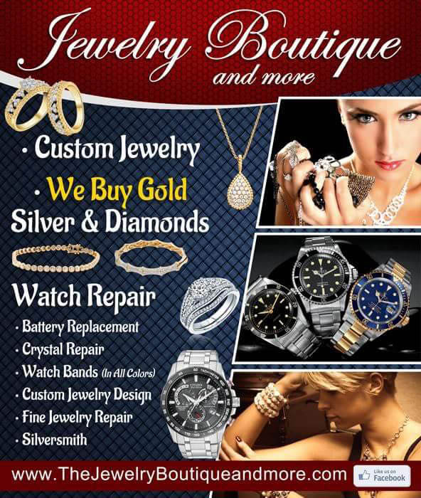 The Jewelry Boutique gold buying & watch repair ad