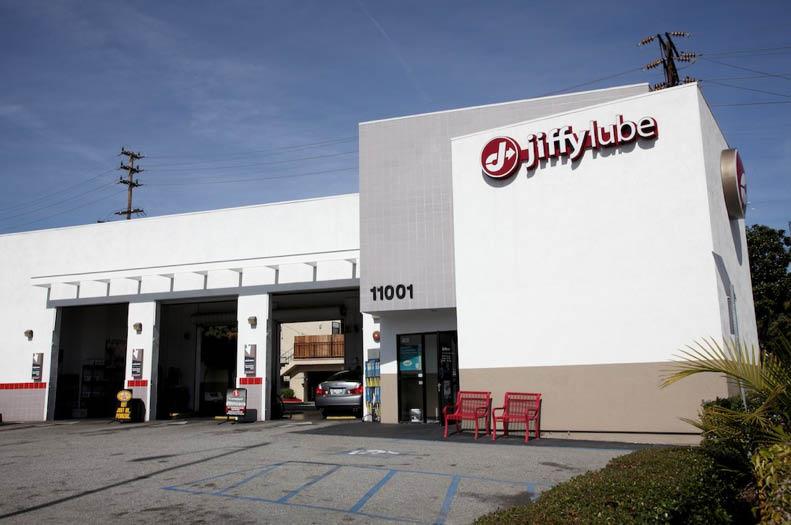 Jiffy Lube storefront; 1001 Santa Monica Blvd., Los Angeles