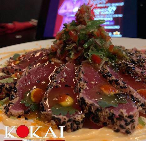 Ahi tuna and sesame seeds in Katy TX