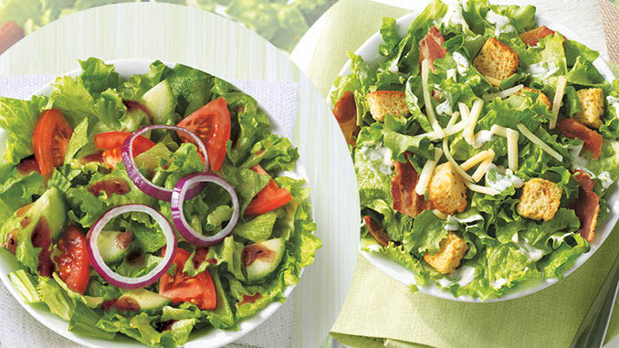 Garden and Caesar salads are among our menu options
