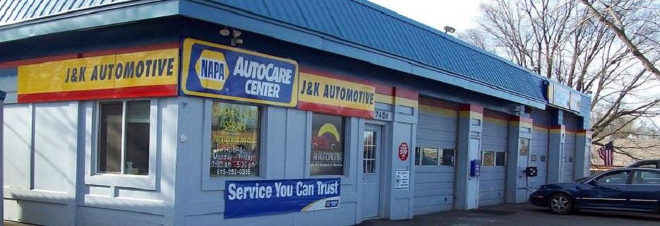 J & K Automotive in Urbandale, Iowa banner
