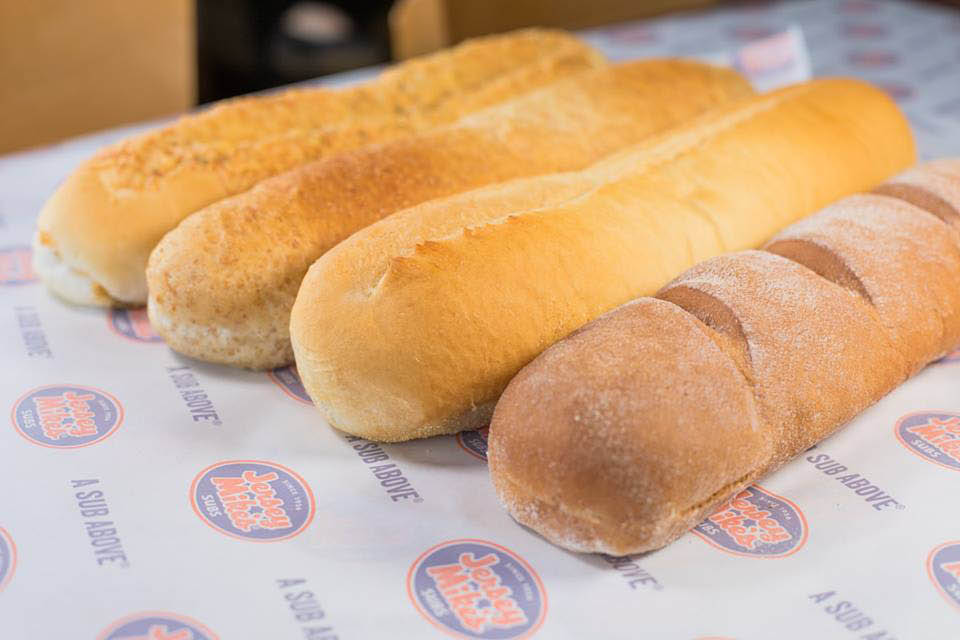 freshly-baked bread; sub rolls