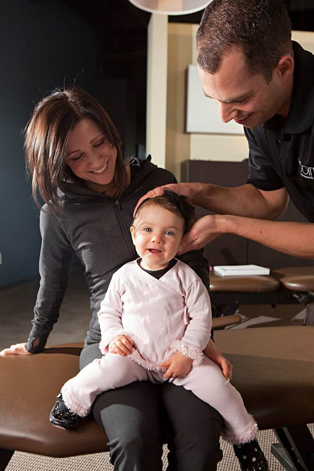 Picture of a kid at The Joint ...the chiropractic place in Waukesha.