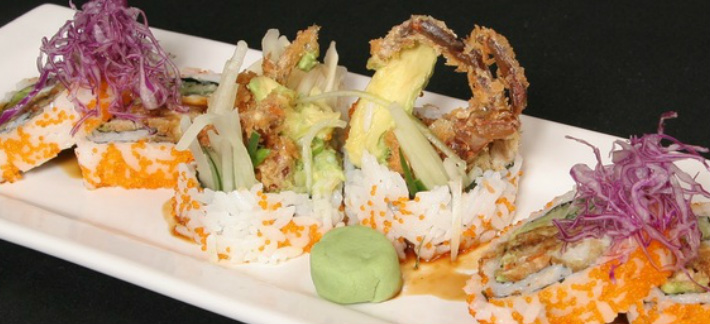 Shrimp tempura sushi roll JoJo Restaurant and Sushi Bar Santa Rosa, CA