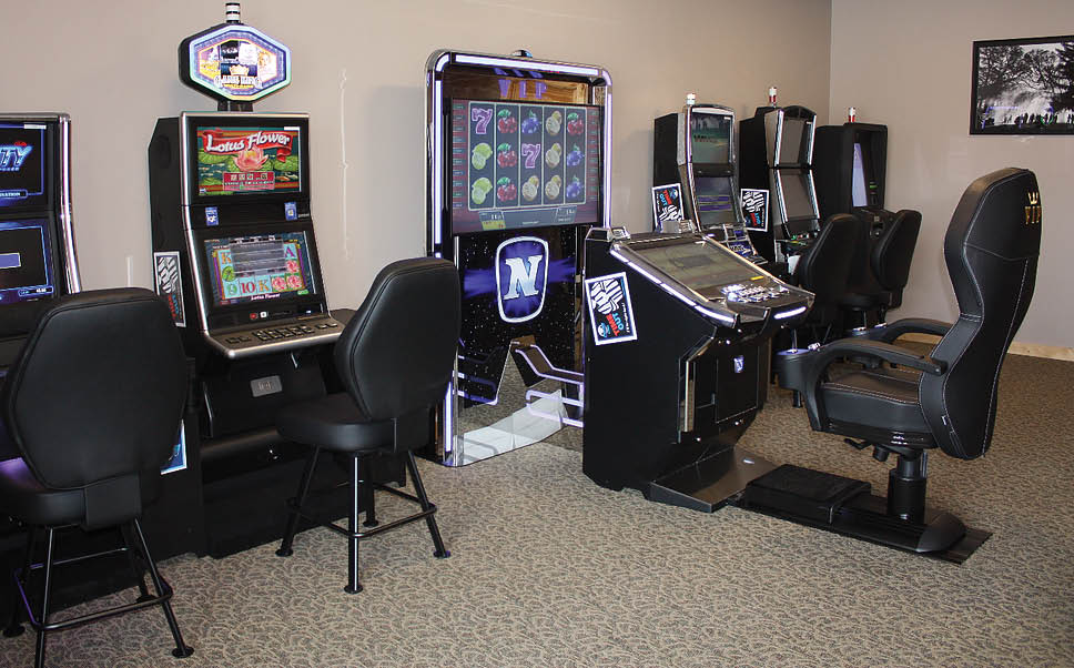 Video gaming area at Jokers Wild in Midlothian, IL.