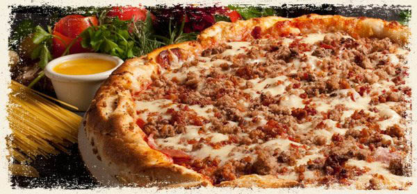 pizza deep dish thin crust gluten free pasta Italian fresh ingredients vegetables sausage pepperoni vegetarian crust homemade old world sauce desserts catering tomatoes cheese dough lasagna