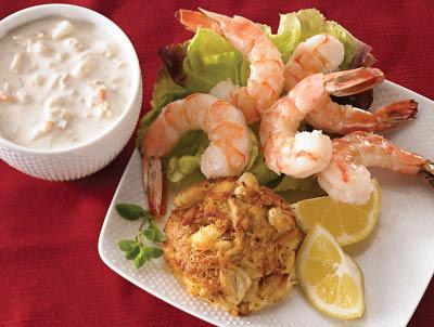Plated Jumbo Shrimp Cocktail & Boston Crab