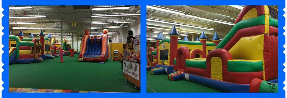 Inflatables at Jump N'Jam Playland located in Calumet City, IL.