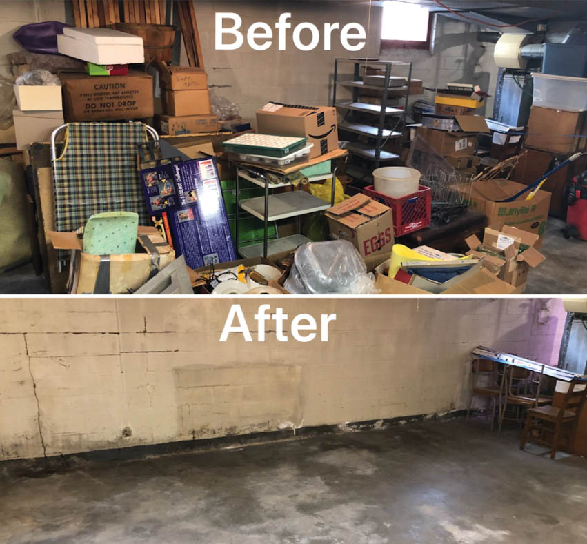 Junk 360 Before and After; junk removal St. Paul