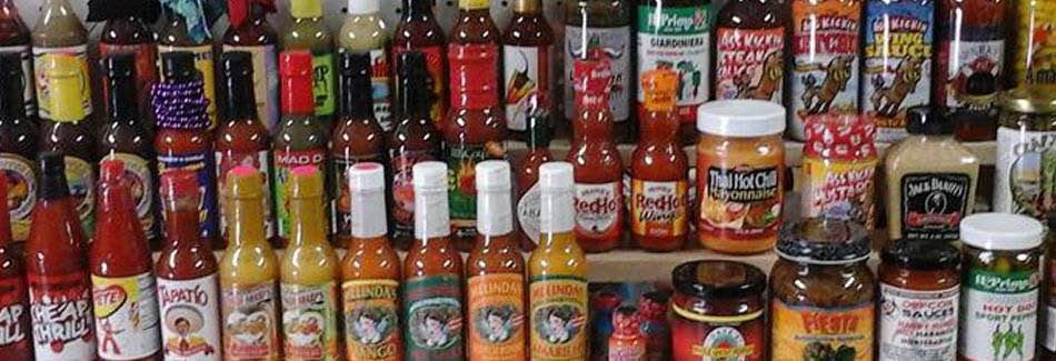 Just not salt and pepper, hot peppers and sauces banner