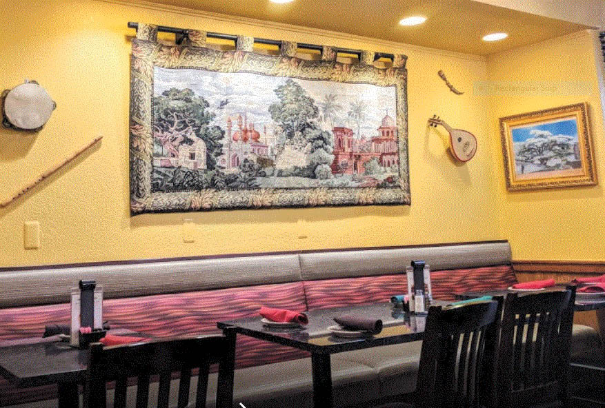 Inside of Shish Palace in Auburn HIlls, MI