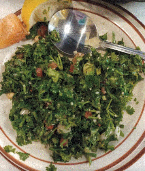 Tabbouleh at Shish Palace in Auburn Hills, MI