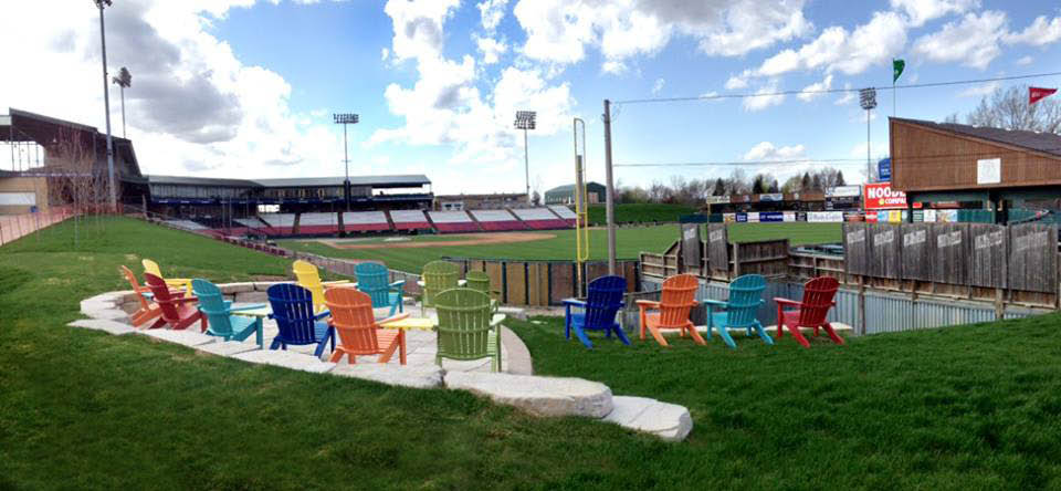 Kane County Cougars patio lawn seating now available.
