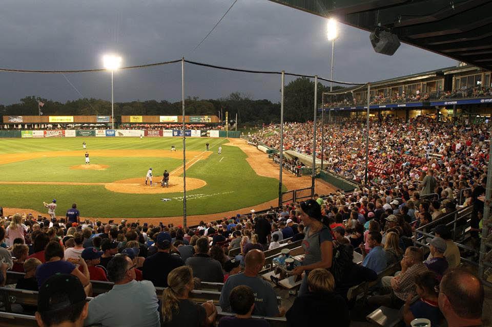 Kane County Cougars minor league baseball stadium is located in Geneva, IL.