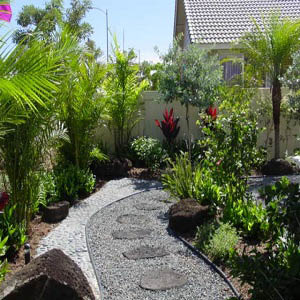 Landscape design in Waipio