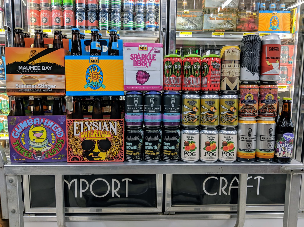 craft beer and wine selection