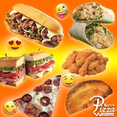 Subs, sandwiches, pizza, wings, etc. Ken's Pizza Rochester NY