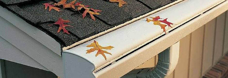 K Guard Denver's Banner Image of their Clog Free Guaranteed Leaf Free Gutter System