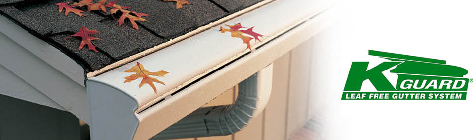 Picture of the KGuard Leaf Free Gutter System.