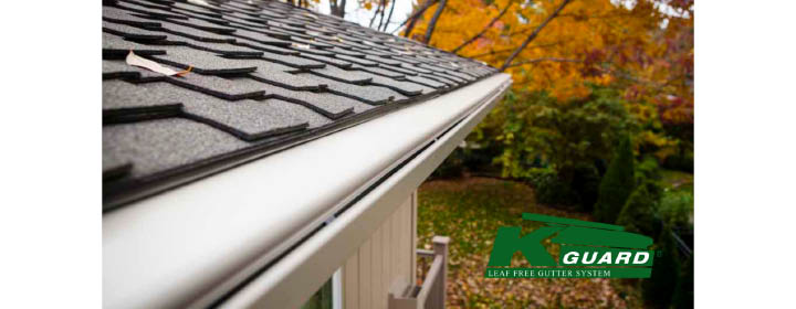 Don't fall off a ladder cleaning your gutters.  Call the professionals at KGuard Heartland to fix the problem for good!