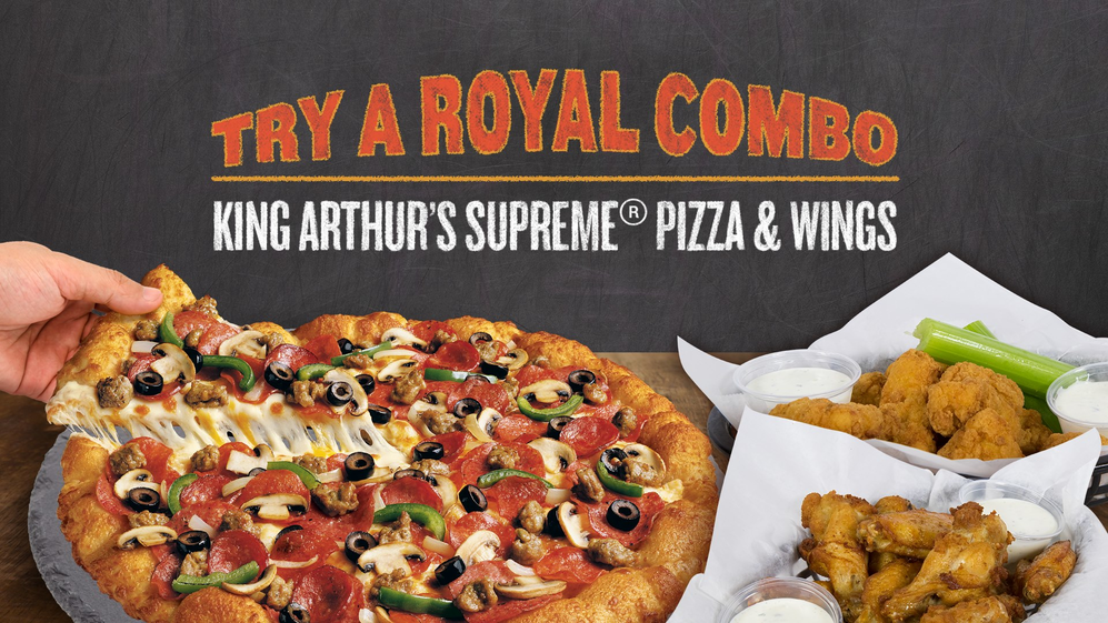 King Arthur Pizza and Wings from Round Table Pizza in Fremont