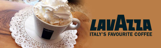 Serving Italian LavAzza Coffee
