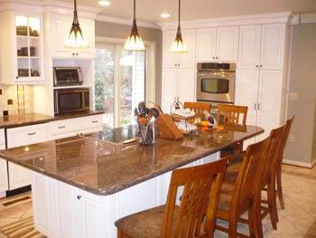 kitchen, island, cabinet, remodel; fredericksburg, va