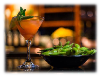 martini and edamame appetizers; sports bar; happy hour; Kobe Japan Restaurant Livermore, CA; Asian restaurants